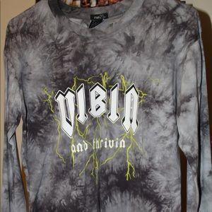 "Rue 21 long sleeve ""vibin"" shirt"